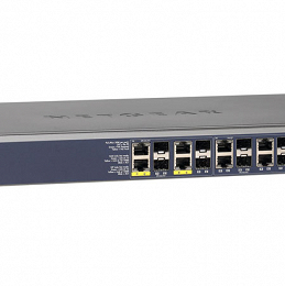 12x 10/100/1000 L2+ Fiber Switch with 12x SFP ports and 4 PoE+